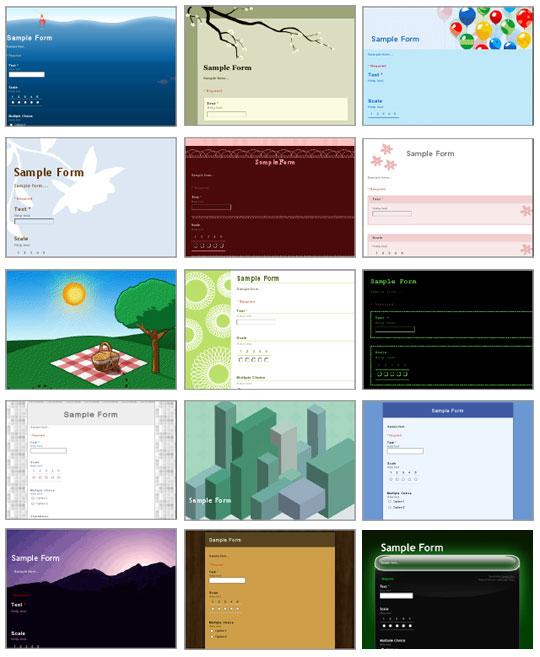 формы в Google Docs