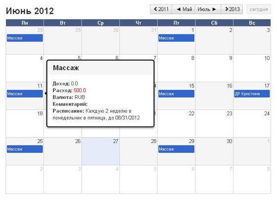 InEx Финансы Календарь