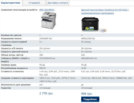 OKI MB451 или Epson WorkForce