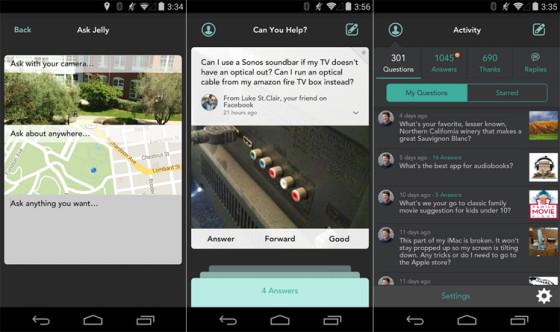 Jelly - мобильное приложение вопросов-ответов