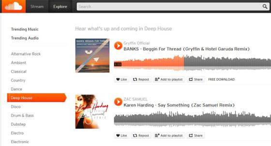 SoundCloud - музыкальный портал