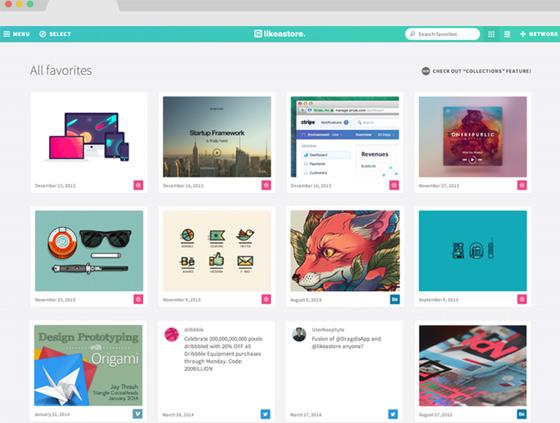 Likeastore - коллекция лайков и закладок