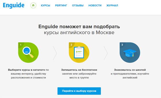 Enguide – поиск курсов английского языка