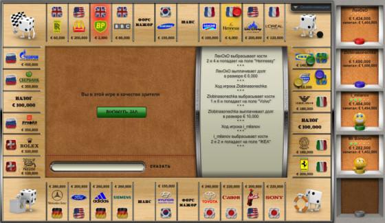 Браузерная версия игры Монополия онлайн