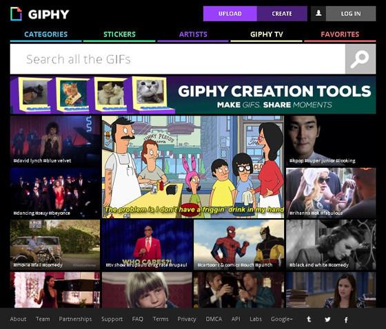 Giphy - архив лучших gif изображений