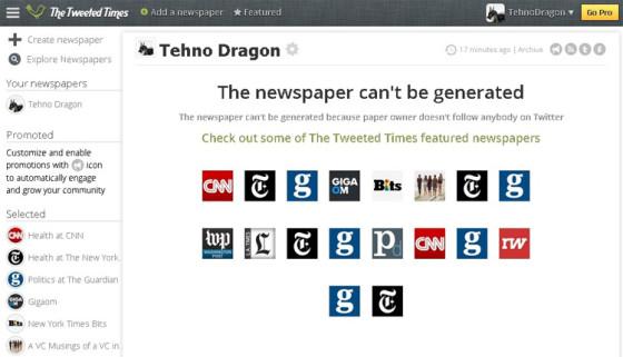The Tweeted Times - сервис социальных новостей