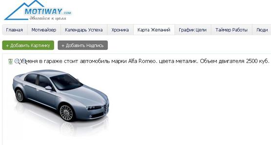 Motiway.com - карта желаний