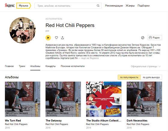 Сервис Яндекс.Музыка