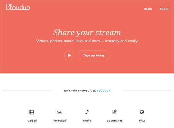 Cloudup - бесплатное хранилище файлов