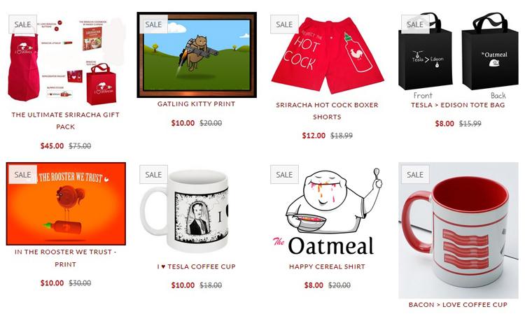Магазин The Oatmeal