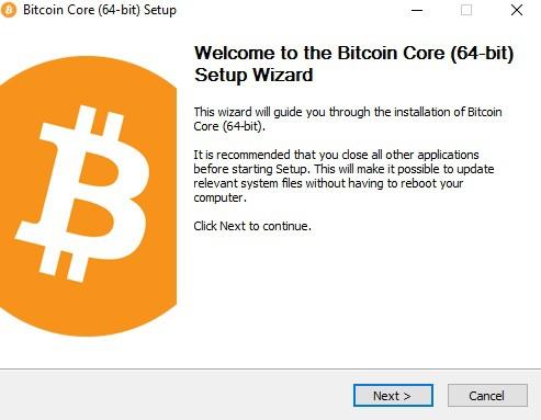 Установка BitCoin Core