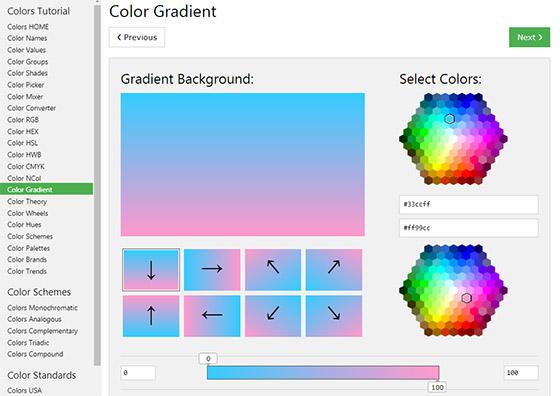 Color Gradient - создание градиента