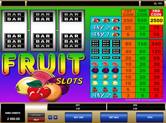 Игровые автоматы Fruit Slots
