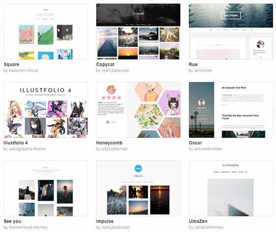 Дизайн Тумблер блогов