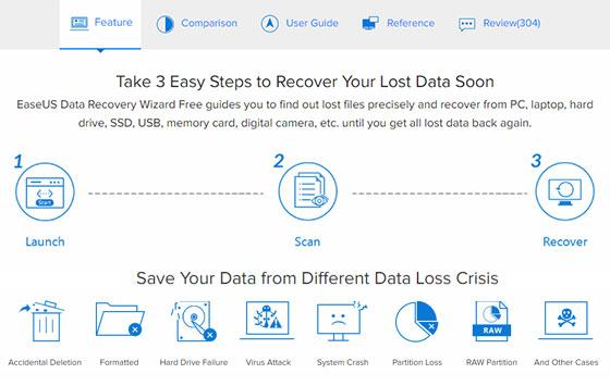 Возможности EaseUS Data Recovery