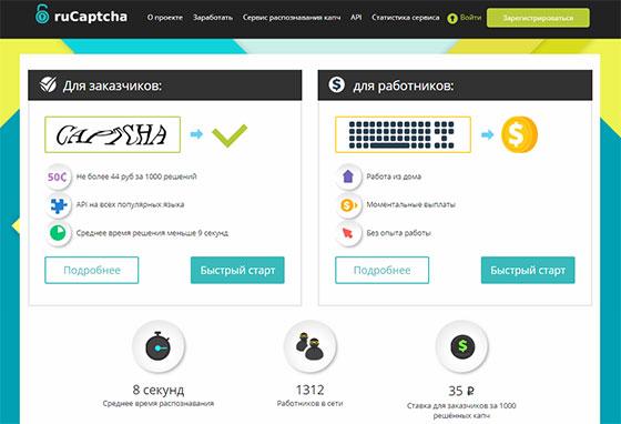Сервис RuCaptcha.com