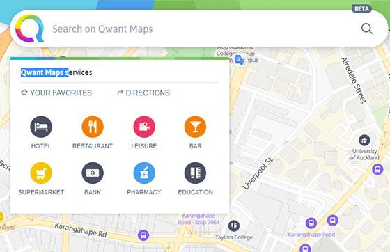 Карта Qwant Maps