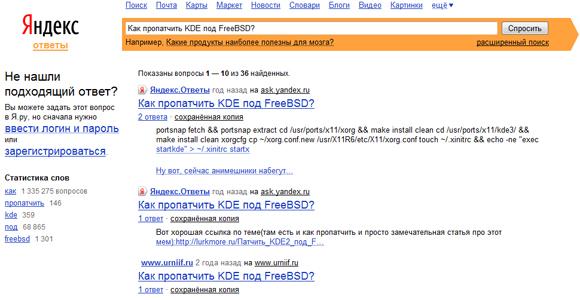 Яндекс.Ответы