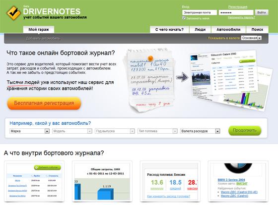 сервис DriverNotes
