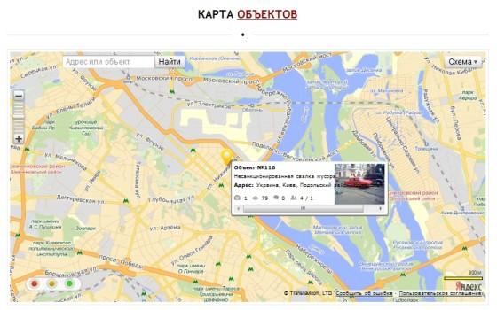 Экофронт - карта местности