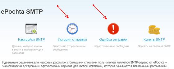 ePochta SMTP сервис для рассылки