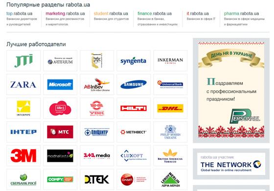 Сервис Rabota.ua