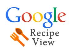 Google Recipe View
