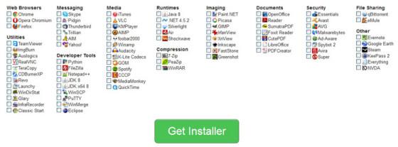 Ninite - выбор нужных программ для установки