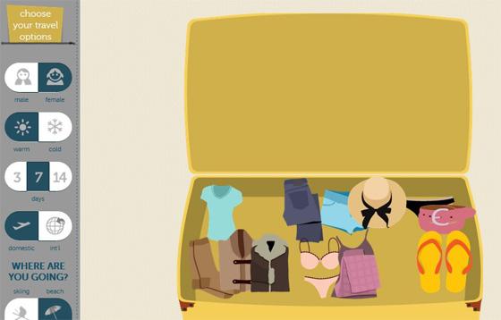 Сервис сбора вещей для чемодана и путешествия