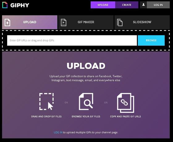 Сервис Giphy для создания gif из видео