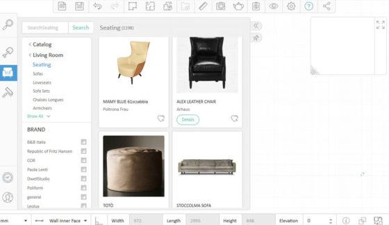 Объекты и мебель для дизайна интерьера