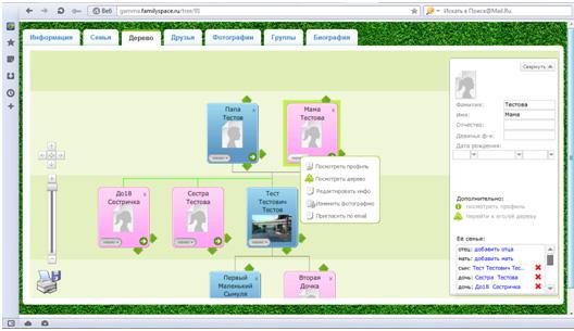 FamilySpace - создаем генеалогическое дерево