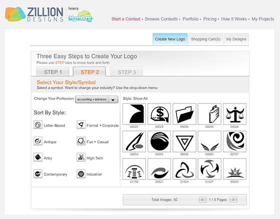 Логотипы Zillion Designs
