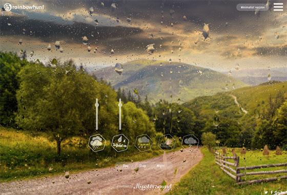 Rainbowhunt - эффекты дождя