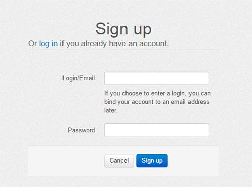 Регистрация в Collabshot