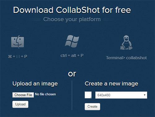 Collabshot - загрузка изображений
