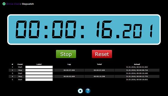 Секундомер Onlive Clock