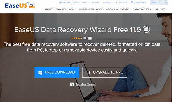 Программа EaseUS Data Recovery