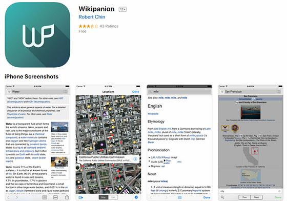 Приложение Wikipanion