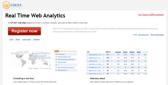 Сервис Clicky Analytics