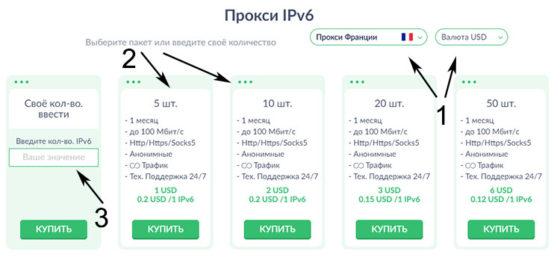 Покупка прокси в Proxy-seller.ru