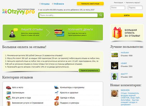 Сервис отзывов Otzyvy.Pro